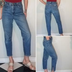 Vintage early 90s Bonjour cropped ankle zip jeans